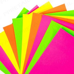 20 x A4 Neon Card 160gsm - Mixed Colours